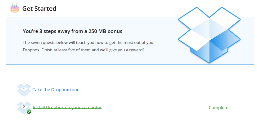 Dropbox offers much more than just utility. Its copywriting is brilliant.